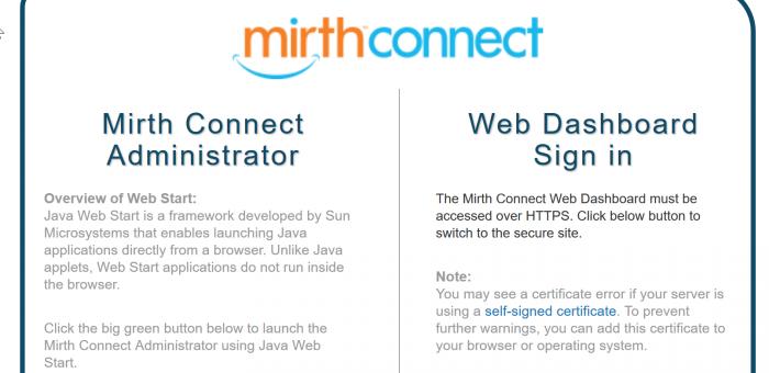 MIRTH Connect installation – Dr  Ilias Sachpazidis